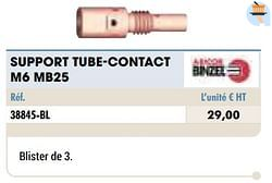 Support tube-contact m6 mb25