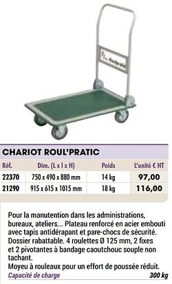 Chariot roul`pratic