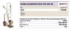 Diable aluminium pelle fixe