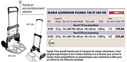 Diable aluminium pliable 125 et