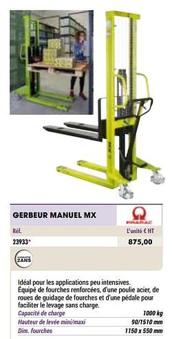 Gerbeur manuel mx