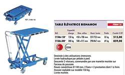 Table élévatrice bishamon