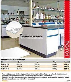 Tapis anti-contamination