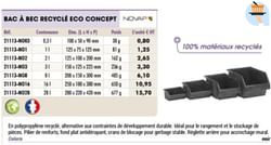 Bac a bec recycle eco concept