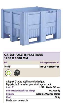 Caisse-palette plastique