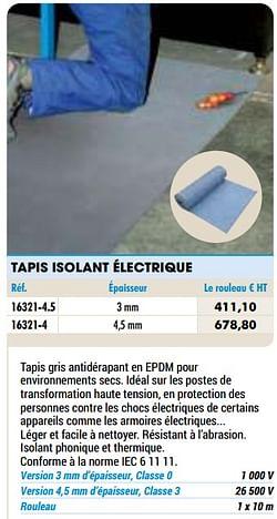 Tapis isolant électrique