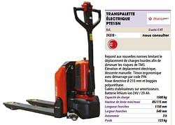 Transpalette électrique pte15n