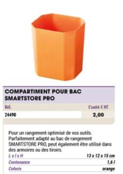 Compartiment pour bac smartstore pro
