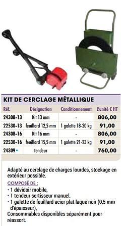 Kit de cerclage métallique