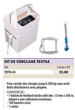 Kit de cerclage textile