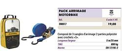 Pack arrimage motorbike