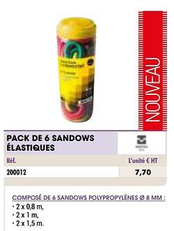 Pack de 6 sandows élastiques