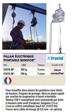 Palan électrique portable minifor