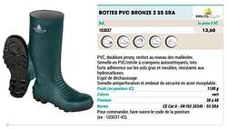 Bottes pvc bronze 2 s5 sra