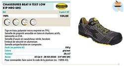 Chaussures beat ii text low s1p hro src