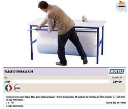 Table d`emballage