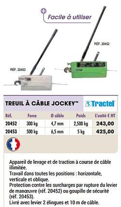 Treuil à câble jockey