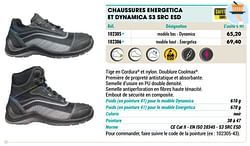 Chaussures energetica et dynamica s3 src esd
