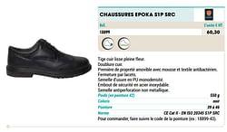 Chaussures epoka s1p src