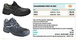Chaussures first s3 src