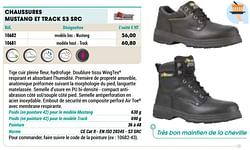 Chaussures mustang et track s3 src