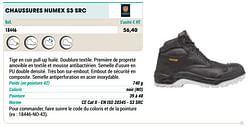 Chaussures numex s3 src