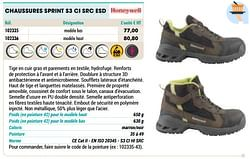 Chaussures sprint s3 ci src esd