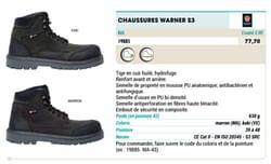 Chaussures warner s3
