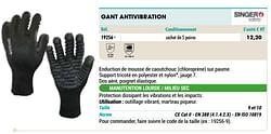 Gant antivibration