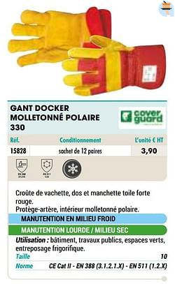 Gant docker molletonné polaire 330