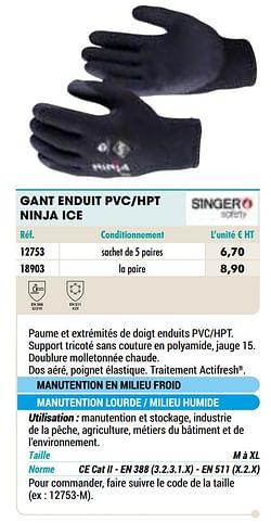 Gant enduit pvc-hpt ninja ice