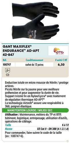 Gant maxiflex endurance ad-apt 42-847