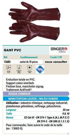 Gant pvc