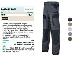 Pantalon ruler