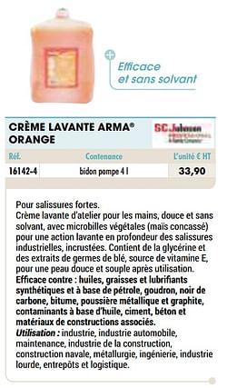 Crème lavante arma orange