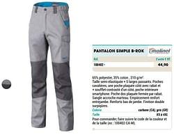 Pantalon simple b-rok