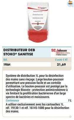 Distributeur deb stoko sanitise
