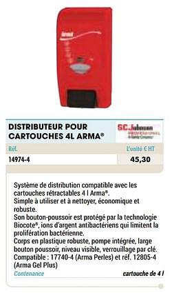 Distributeur pour cartouches 4l arma