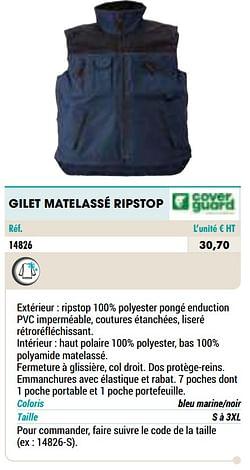 Gilet matelassé ripstop