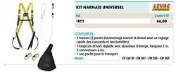 Kit harnais universel