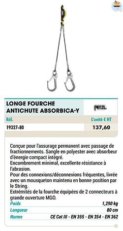 Longe fourche antichute absorbica-y