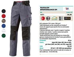 Pantalon bperformance epi