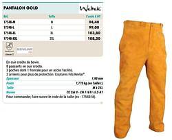 Pantalon gold