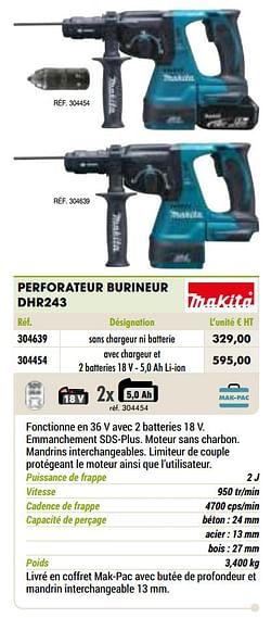 Makita perforateur burineur dhr243