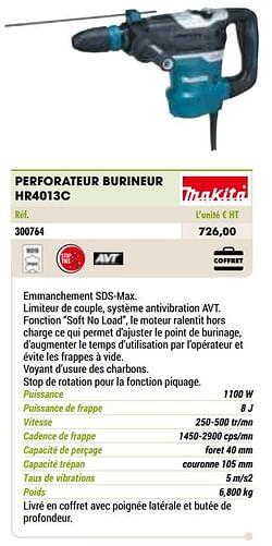 Makita perforateur burineur hr4013c
