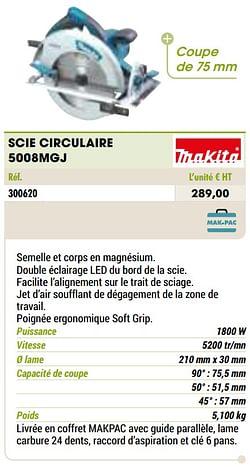 Makita scie circulaire 5008mgj