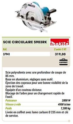 Makita scie circulaire 5903rk