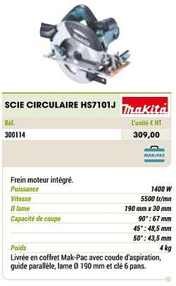 Makita scie circulaire hs7101j