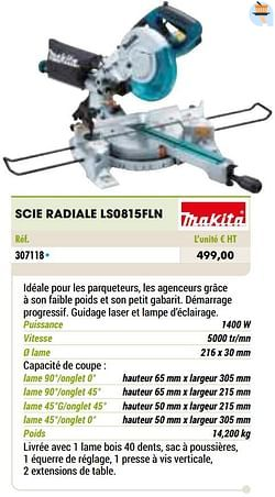 Makita scie radiale ls0815fln