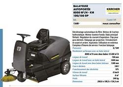 Balayeuse autoportée 8000 m2-h - km 100-100 rp